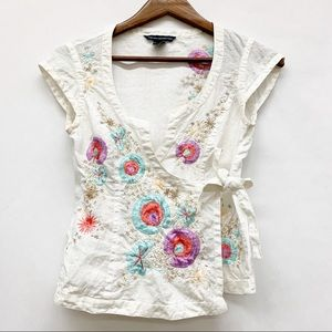 4 FOR $30 SALE French Connection Embroidered Top 6